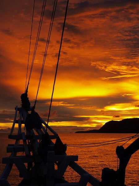 Raja Ampat sunset, view from Temukira...