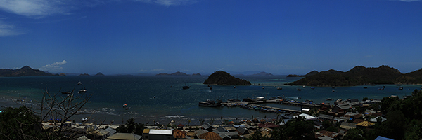 Labuan Bajo view from the hill..