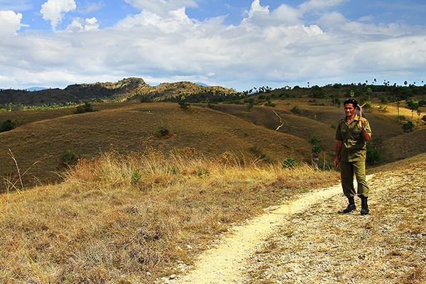 Pak Sofyan the komodo ranger..
